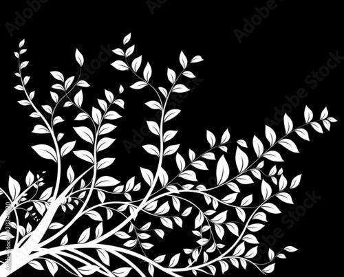 Masque Noir Et Blanc Floral Decor Décoration Avec Arbre