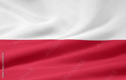Obraz Flagge von Polen - fototapety do salonu