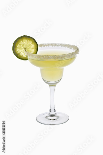 Fotografie, Obraz  Margarita cocktail on a white background