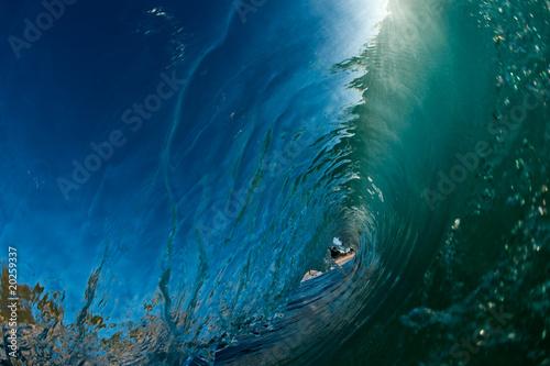 Foto auf Gartenposter Wasser hollow ocean wave