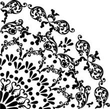 Black Simple Quadrant Pattern