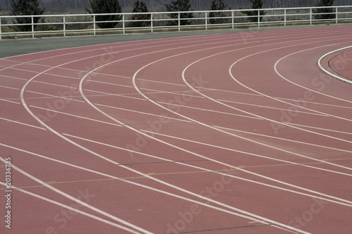 Pista de atletismo 2 Wallpaper Mural
