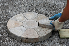 Laying Decorative Pavers In A ...