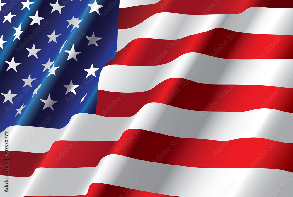 Fototapety, obrazy: vector american flag