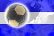 canvas print picture - Flag of El Salvador soccer