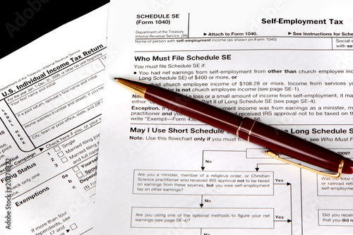 Tax Forms For The Self Employed  Buy This Stock Photo And Explore