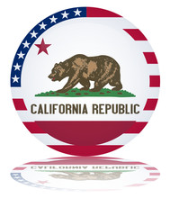 Californian State Round Flag B...