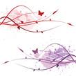 Decorative floral background (two color sets)