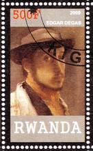 Stamp Shows Edgar Degas