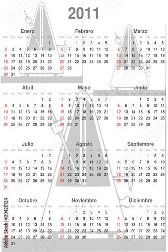 2011 Calendario.Calendario 2011 Espanol Buy This Stock Vector And Explore