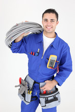 Jeune Homme électricien Sur F...