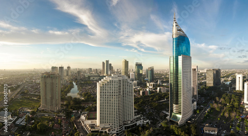 Recess Fitting Indonesia Jakarta city panorama