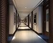 the 3d rendering of a ktv corridor