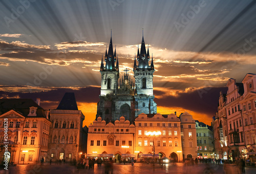 Photo  The Old Town Square in Prague City