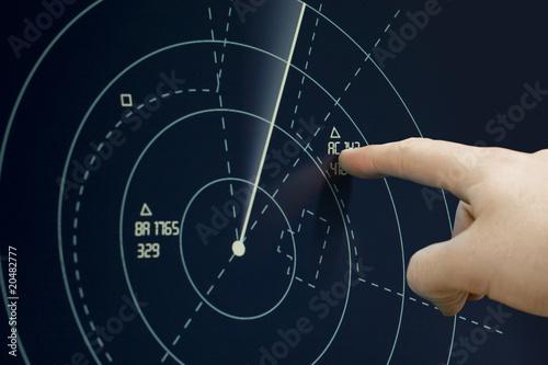 Fotografía  Plane on radar