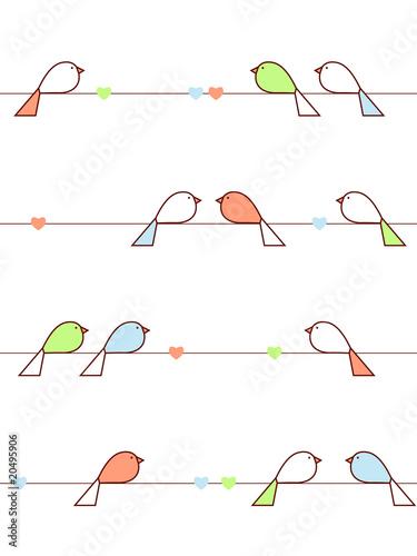 Love birds Wallpaper Mural