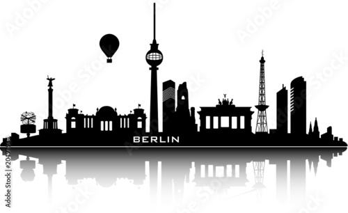 Photo  berlin skyline - top details