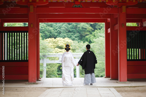 日本の結婚式 イメージ Fototapet