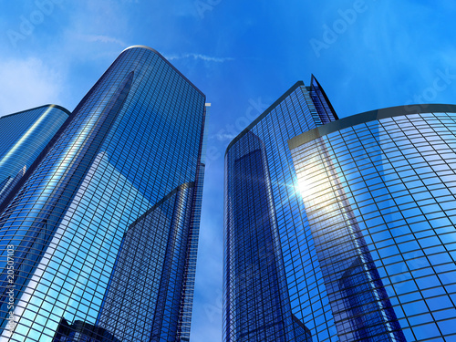 Canvas Print Modern office buildings