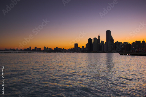 City on the water Chicago from water