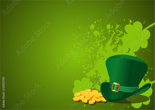 Printed kitchen splashbacks Fairytale World St. Patrick's Day Background