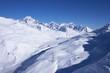 winter mountains landscape, Alps, France