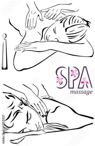 massage illustration #20521327