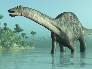 Fototapeta Dicraeosaurus Dinosaur 3D render
