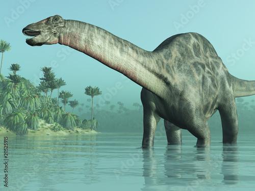 Photo  Dicraeosaurus Dinosaur 3D render