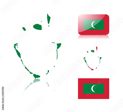Maldives map and flags - Buy this stock vector and explore similar ...