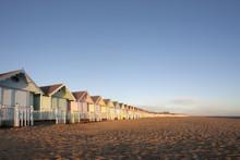 Beach Huts At Mersea, Essex