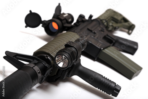 Custom M4A1 assault rifle for paramilitary contractors.