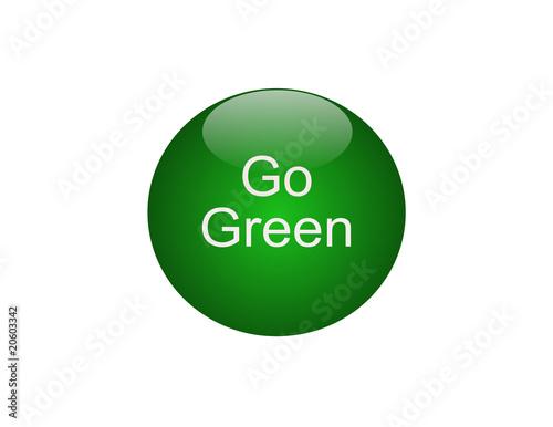 Fototapety, obrazy: Go Green Button