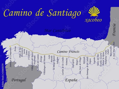 Fotografie, Obraz  camino de santiago, ruta