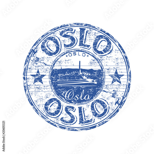 Photo  Oslo grunge rubber stamp