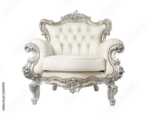 Fotografie, Obraz  Luxurious Armchair isolated on white