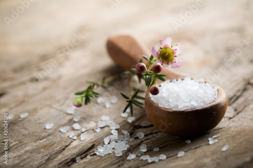 Vászonkép Bath salt