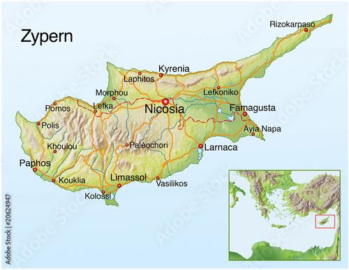 Landkarte Von Zypern Buy This Stock Illustration And Explore