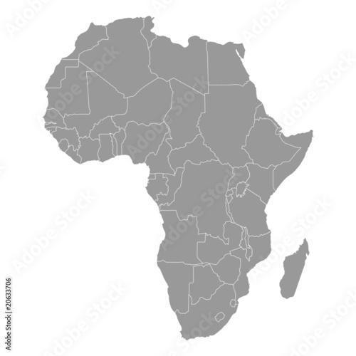 Fototapeta landkarte afrika I obraz