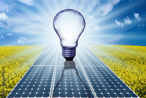 energia solare 2 Canvas Print
