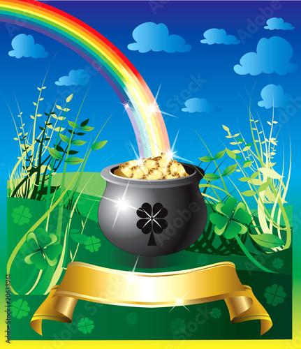 In de dag Regenboog St. Patrick's Day Rainbow 2