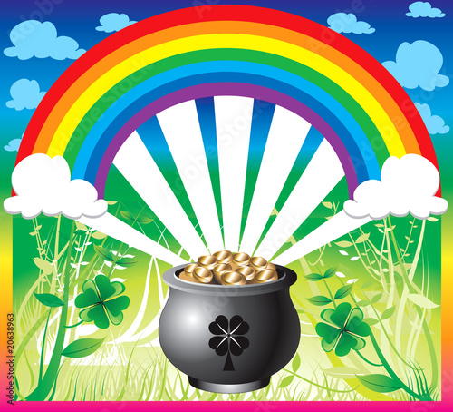 In de dag Regenboog St. Patrick's Day Rainbow