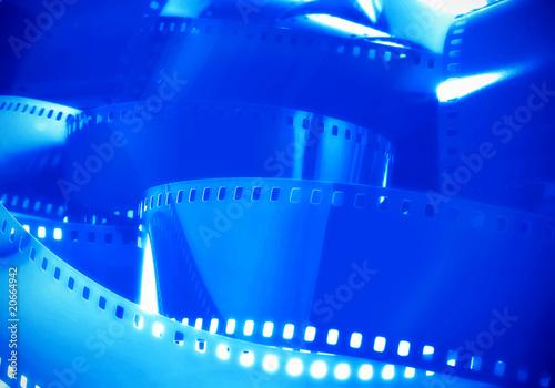 Fotografija  Blue Film Background