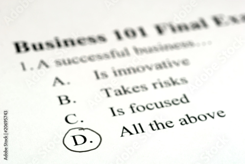 Multiple Choice Business Test - Buy this stock photo and