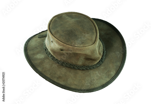 Photo leather hat