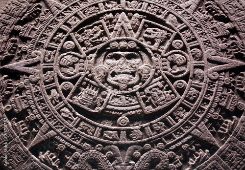 Photo Sun Stone aztec calendar