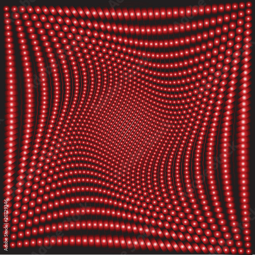 Wall Murals Psychedelic Optical effect with red circles