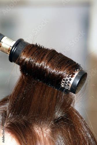 Foto op Aluminium Ree Long straight hair and hairbrush