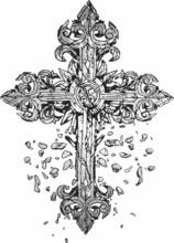 Brocken Cross Illustration