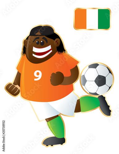 Canvas Prints Fairytale World Football mascot Ivory Coast